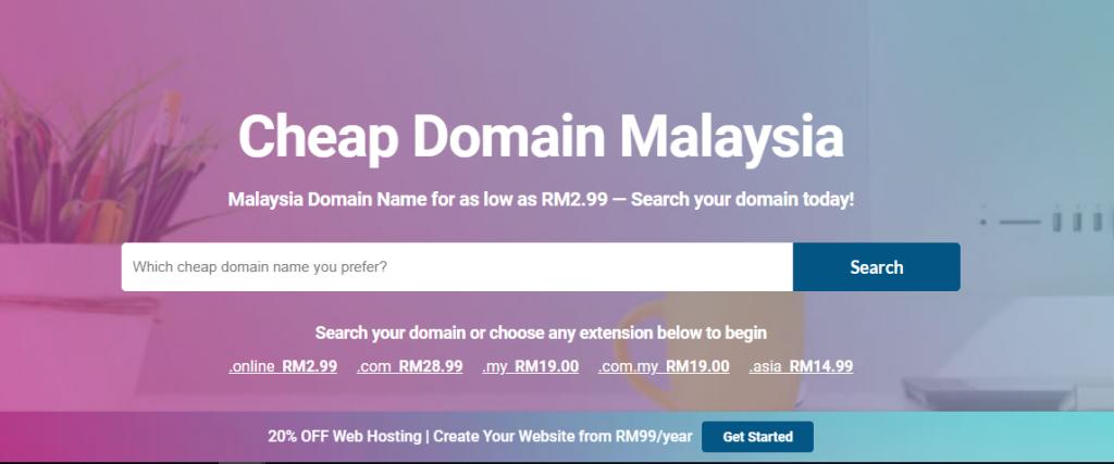 cheap domain malaysia
